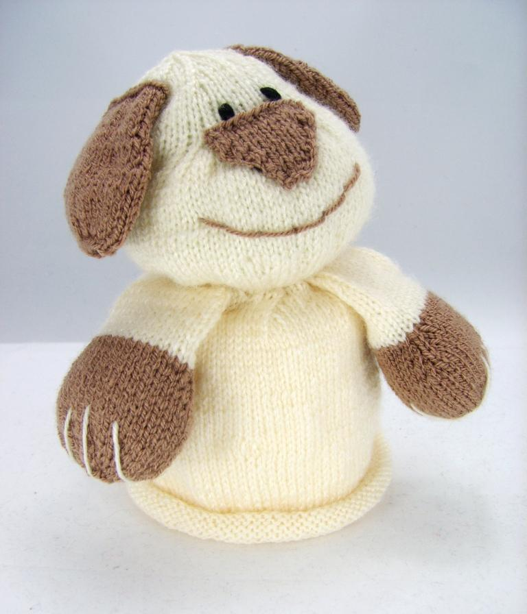 Kbp 043 Bog Dog Toilet Roll Cover Knitting By Post Knitting Pattern